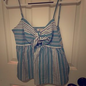 Madewell striped tank top with cute tie detail